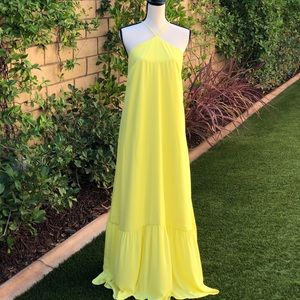 Aqua hot yellow dress